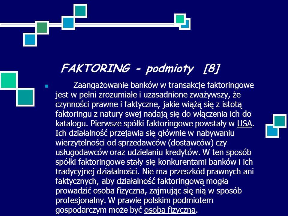 FAKTORING - podmioty [8]